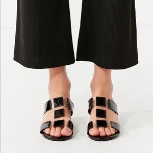 fb341304324 Urban Outfitters Shoes - Clear and back heel urban Outfitters